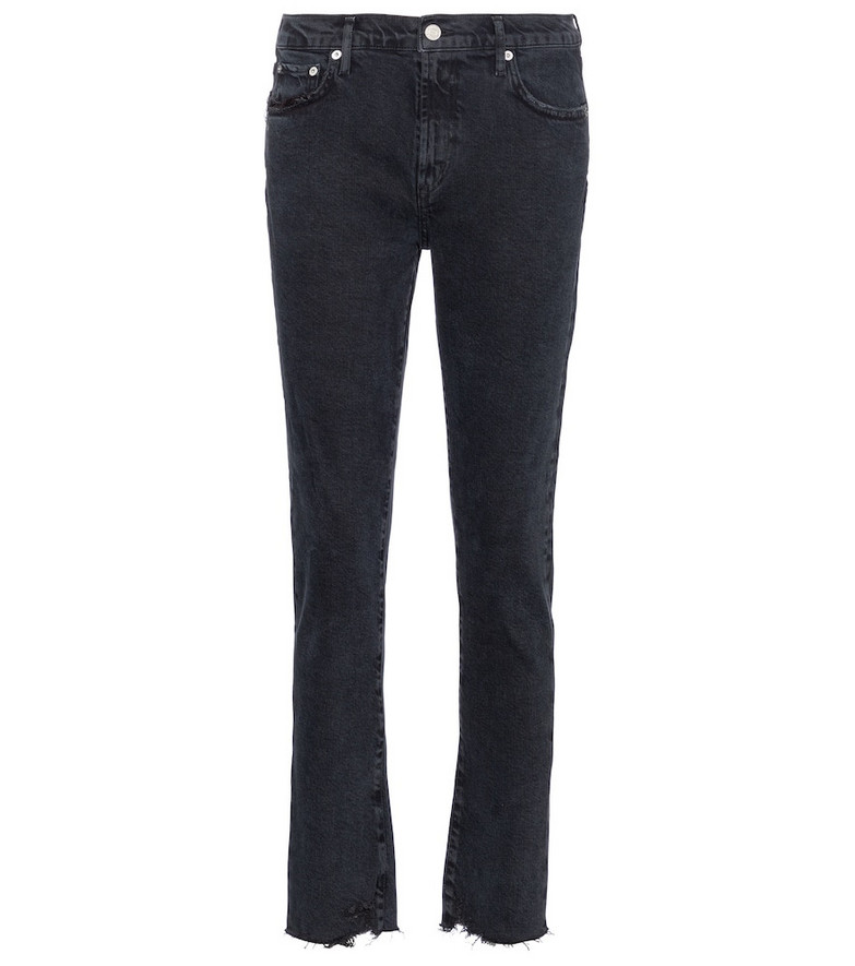 Agolde Toni mid-rise straight jeans in black