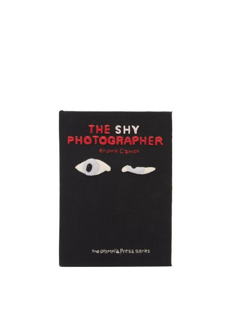 Olympia Le-tan - The Shy Photographer Embroidered Book Clutch - Womens - Black Multi