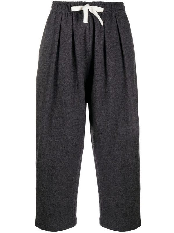 Sofie D'hoore drawstring straight leg trousers in grey