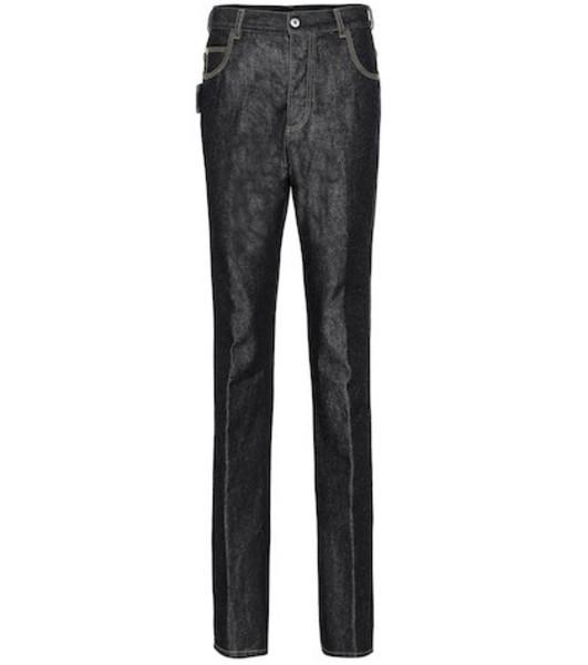 Bottega Veneta Mid-rise straight jeans in blue