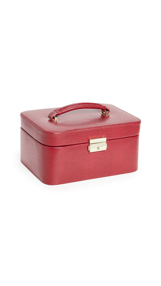 Shopbop Home Shopbop @Home Lizard Embossed Jewelry Travel Box in red
