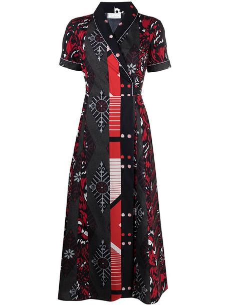 Pierre-Louis Mascia Diomede cotton wrap dress in black