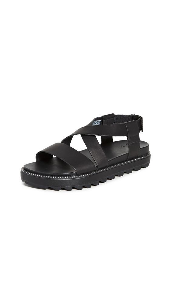 Sorel Roaming Crisscross Sandals in black