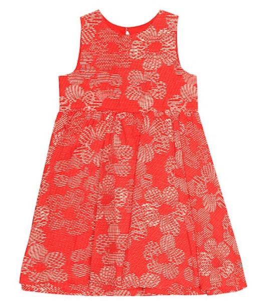 Tartine et Chocolat Cotton jacquard dress in red
