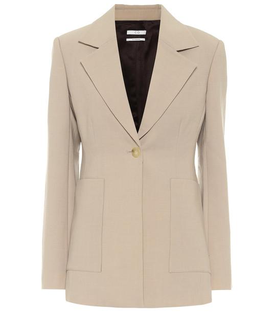 Co Single-breasted blazer in beige