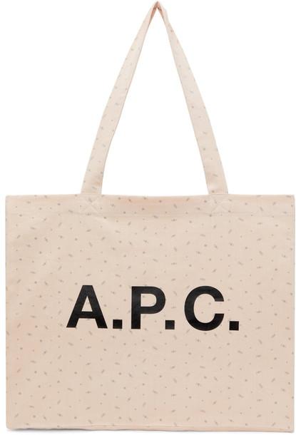 A.P.C. A.P.C. Pink Diane Shopping Tote in peach