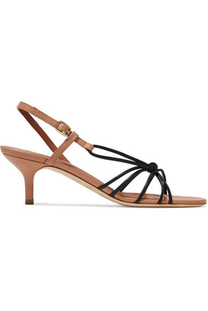 Malone Souliers - Antwerp 45 Two-tone Knotted Leather Sandals - Black