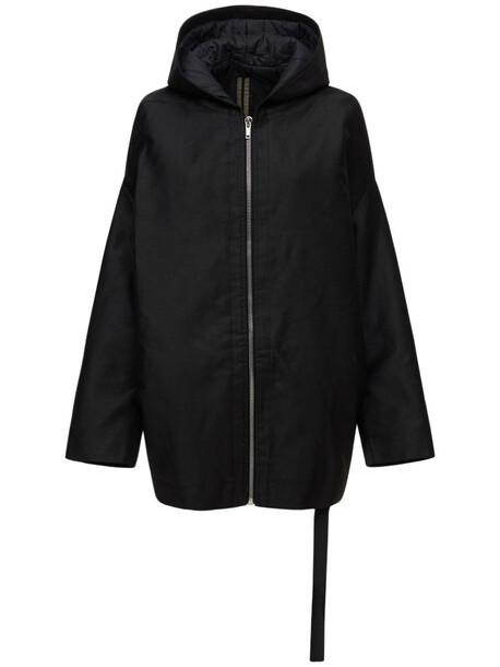 RICK OWENS Cotton & Nylon Down Jacket in black