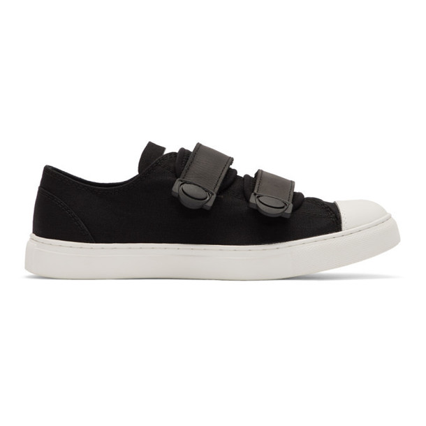 Regulation Yohji Yamamoto Black and White Strap Sneakers