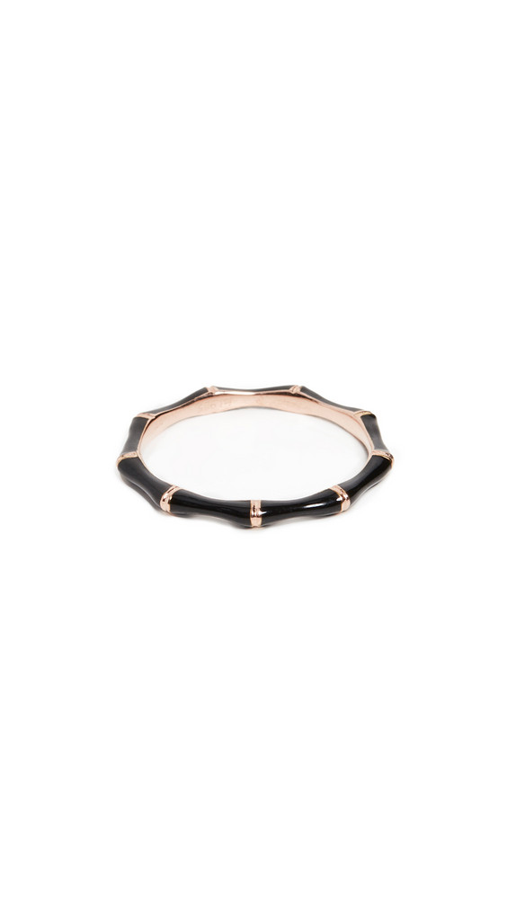 Jennifer Zeuner Jewelry Donna Enamel Ring in black / rose