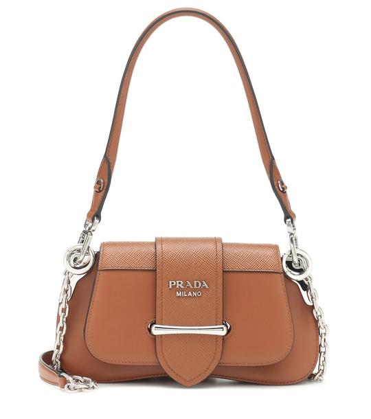 Prada Sidonie leather shoulder bag in brown
