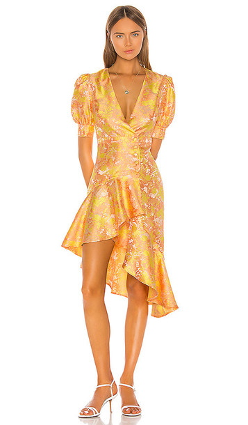 Song of Style Mariel Midi Dress in Yellow