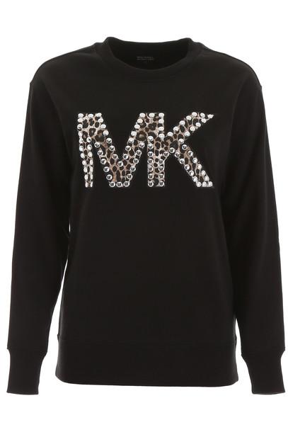 MICHAEL Michael Kors Studded Logo Sweatshirt in black