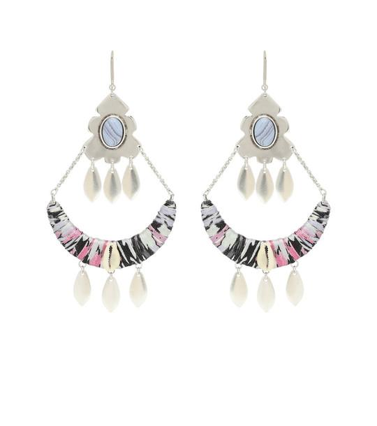 Isabel Marant Embellished earrings in silver