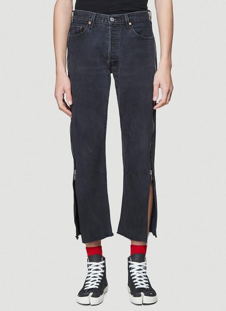 Bonum Side-Zip Jeans in Black size 28