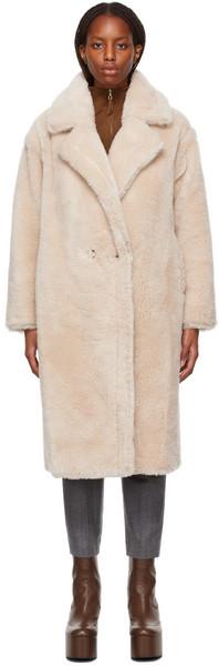 Yves Salomon - Meteo Off-White Meteo Maxi Single Breasted Coat in cream