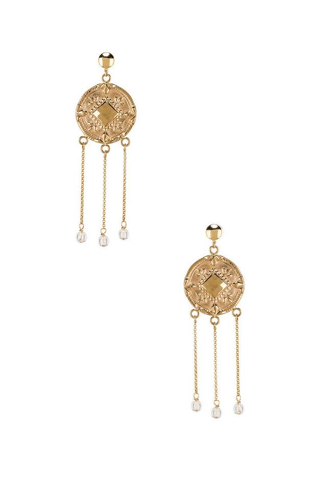 Paradigm Tybalt Earrings in gold / metallic
