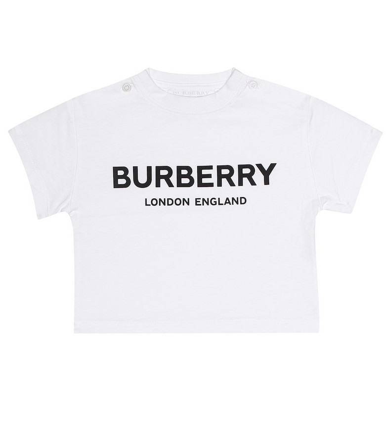 Burberry Kids Baby printed cotton T-shirt in white