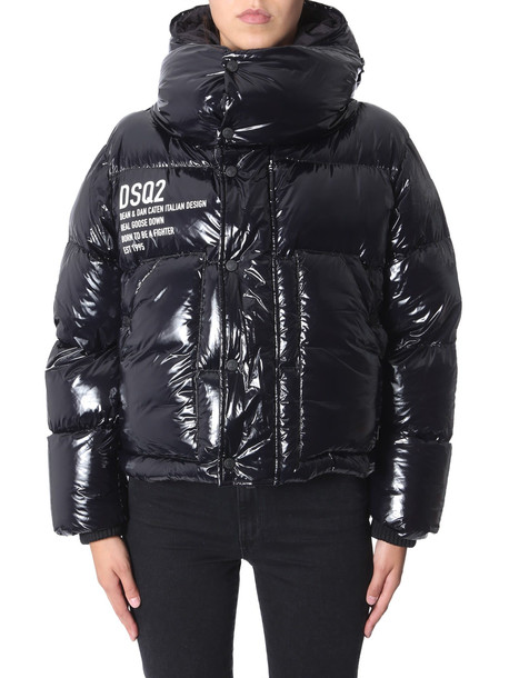 Dsquared2 Puffed Bomber With Hood in nero