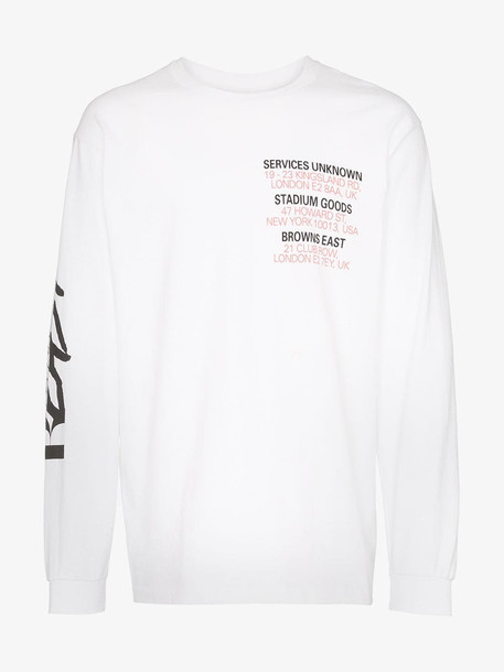 Services Unknown X Browns East Cirabus long sleeve T-shirt in white
