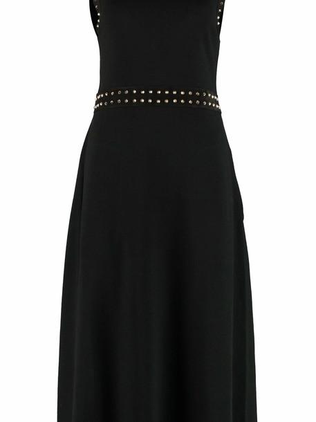 Salvatore Ferragamo Knitted Dress With Decorative Studs in black