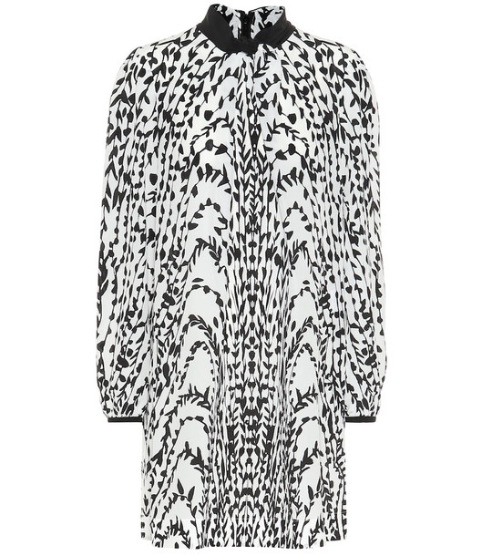 Givenchy Printed silk dress in white