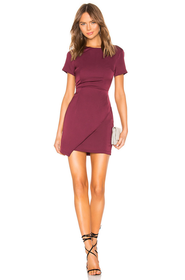 About Us Shayla Mini Dress in burgundy