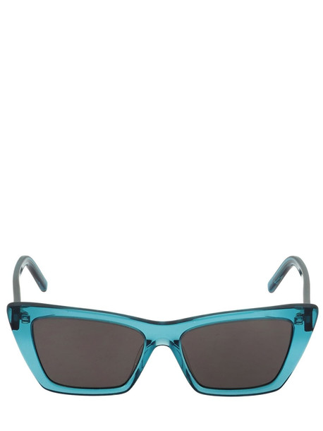 SAINT LAURENT Sun Ace Nw Sl276 Mika Acetate Sunglasses in black / blue