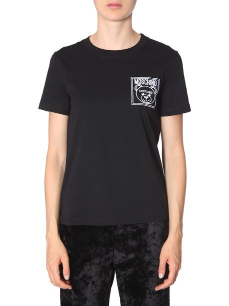 Moschino Round Neck T-shirt in nero