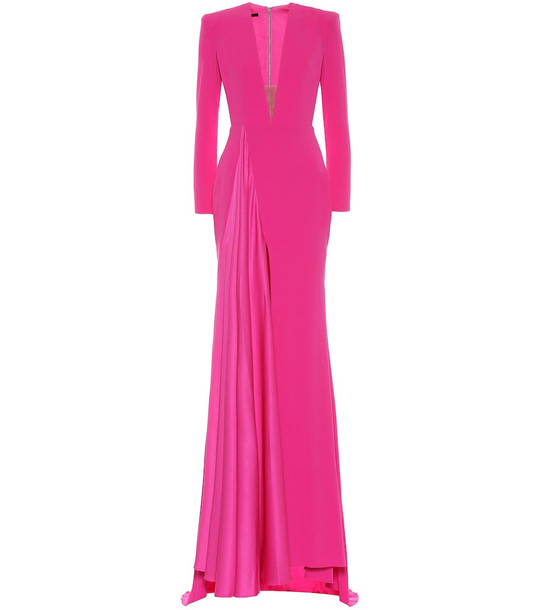 Alex Perry Lindy crêpe dress in pink