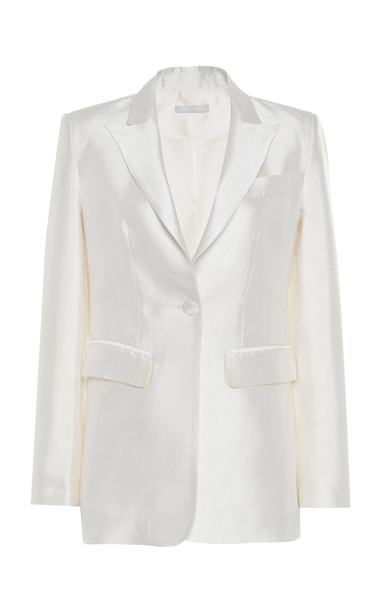 White Story James Silk-Satin Blazer Size: 8