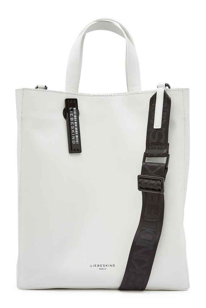 Liebeskind Berlin Leather Shopper  in white