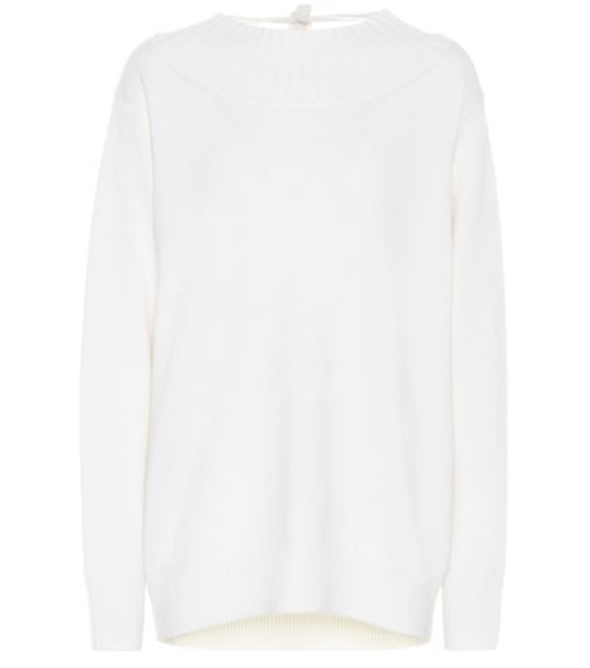 Chloé Oversized cashmere sweater in white