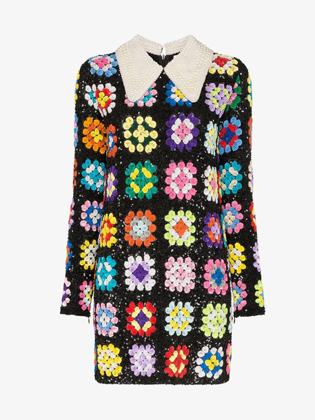 Ashish patchwork crochet mini dress