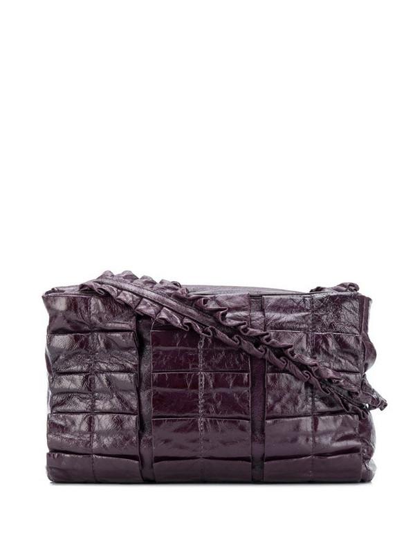 Miu Miu Pre-Owned 2000s panelled mini bag in purple
