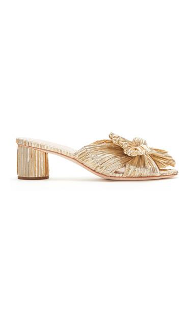 Loeffler Randall Emilia Lamé Sandals in gold