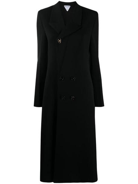 Bottega Veneta double-breasted coat in black