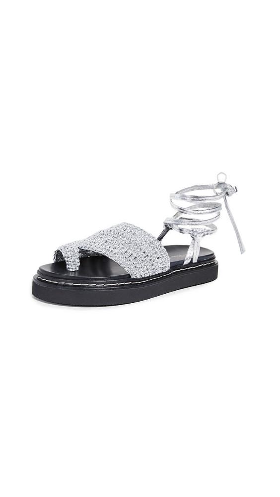 3.1 Phillip Lim Yasmine 35mm Platform Sandals in silver