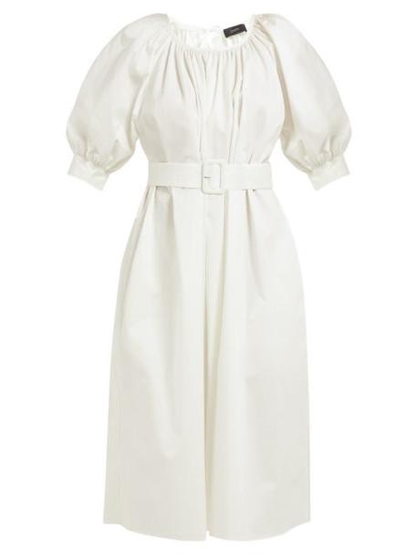 dress tunic dress white cotton