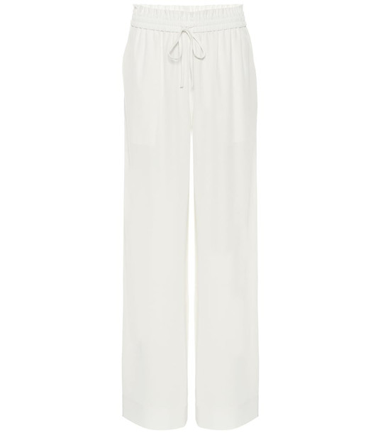 Co Wide-leg crêpe pants in white