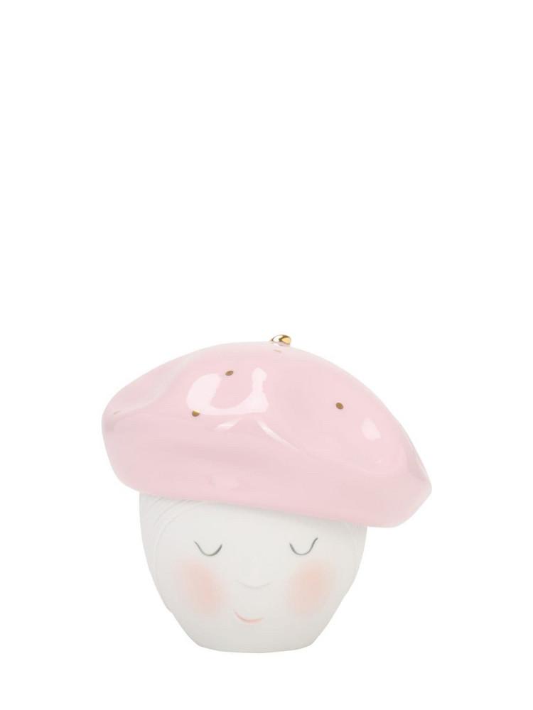 LLADRÒ Lee Beret Porcelain Box in pink / white