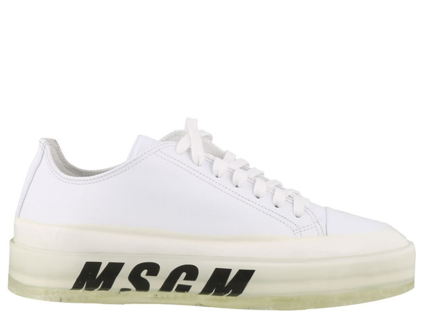 Msgm Floating Sneakers in white