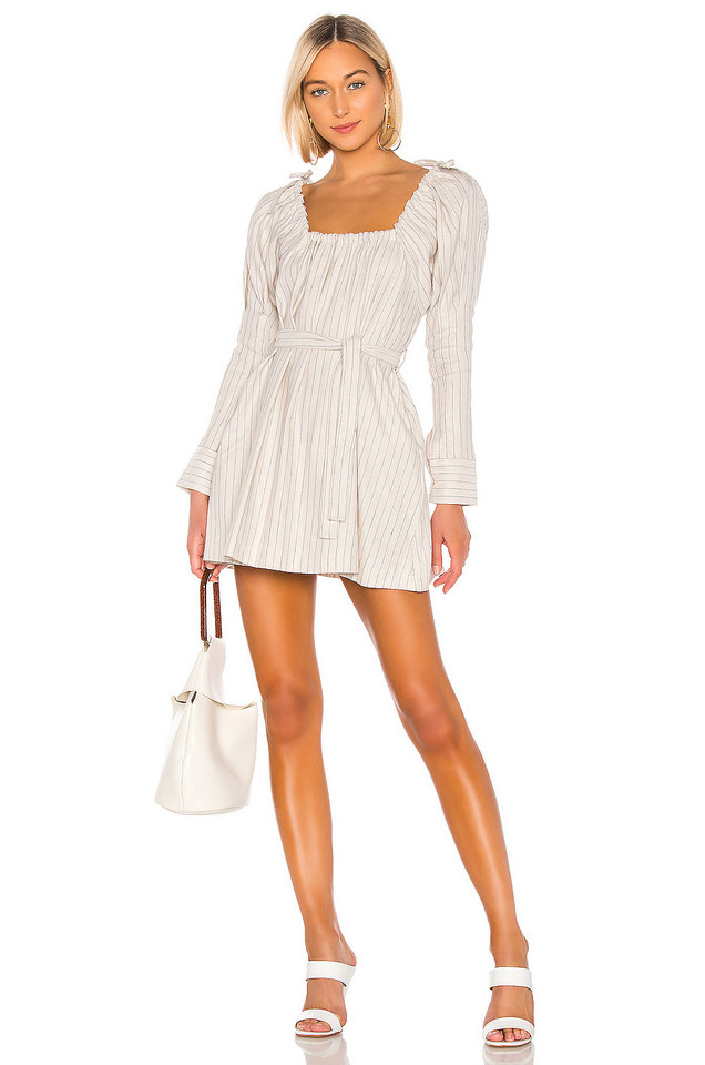 7504182c425 L Academie The Royce Mini Dress in Eggnog from Revolve.com