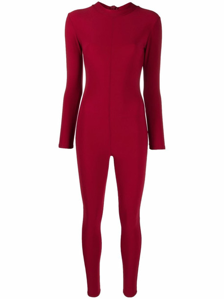 Alchemy long-sleeved fitted jumpsuit - Red