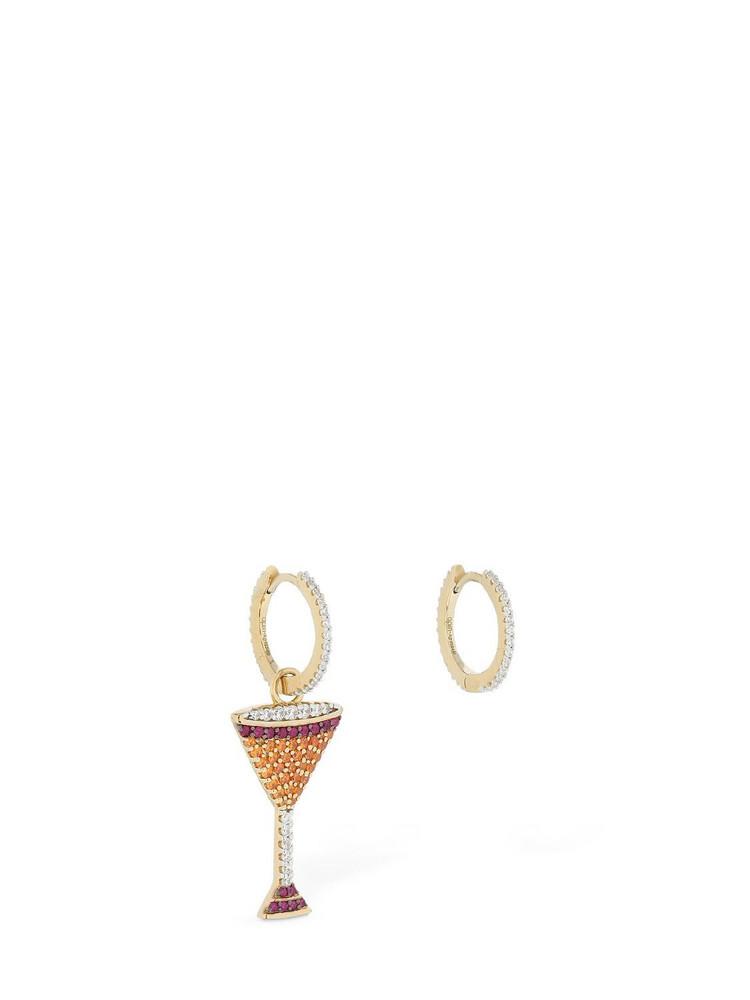 APM MONACO Asymmetric Arc-en-ciel Cocktail Earrings