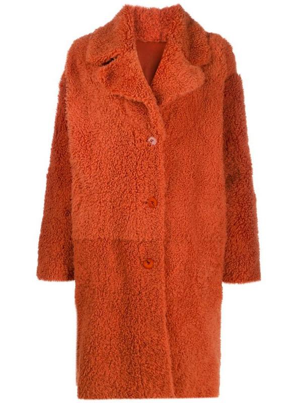 Drome reversible coat in orange