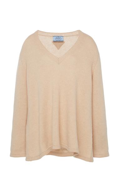 Prada V-Neck Sweater in neutral