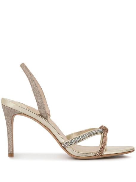 Sophia Webster Giovanna crystal-embellished sandals in gold