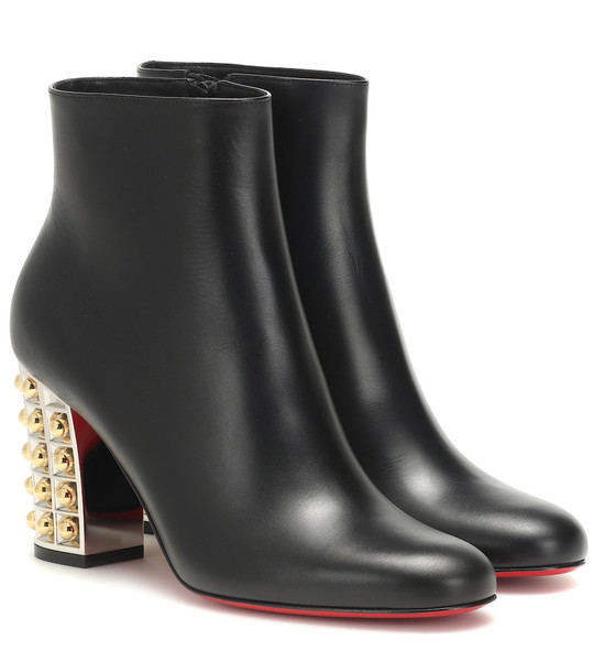 Christian Louboutin Vasa 85 leather ankle boots in black