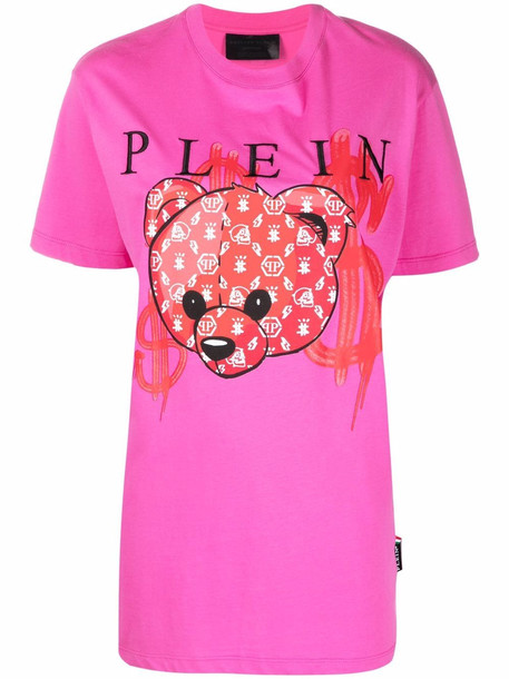 Philipp Plein Teddy-Bear print T-shirt - Pink